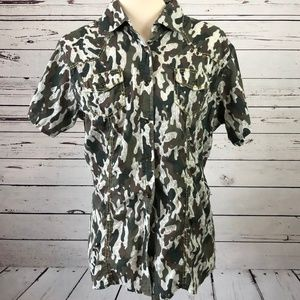 Shyanne Western Camo Pearl Snap Shirt Large Rodeo